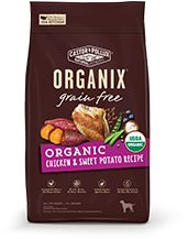 ORGANIX<sup>®</sup> Grain Free Organic Chicken & Sweet Potato Recipe